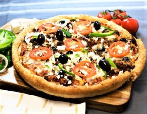 Sarpinos Greek Beef Feta Pizza