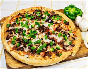 Sarpinos Philly Cheese Steak Pizza
