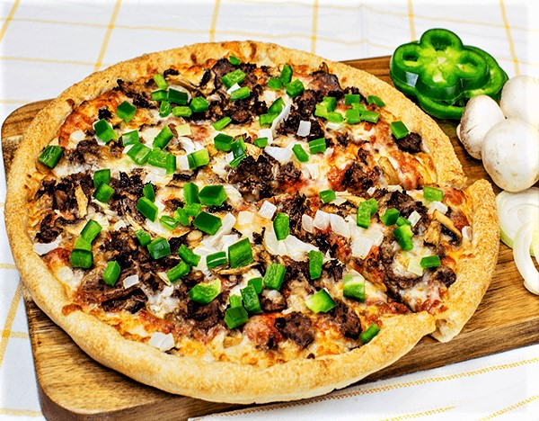 Sarpinos Philly Cheese Steak Pizza