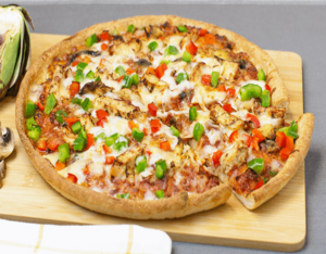 Sarpinos Baked Teriyaki Chicken Pizza