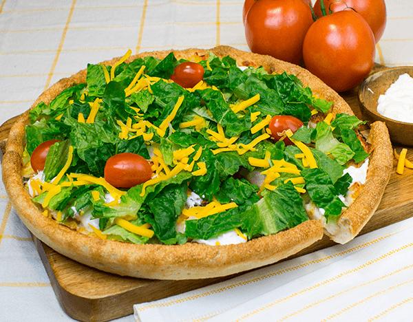 Sarpinos Super Beef Taco Pizza